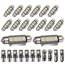 1 세트 화이트 Canbus 자동차 인테리어 램프 LED 돔지도 글러브 미러 라이트 키트 메르세데스 벤츠 W211 E 클래스 2003 2009 년
