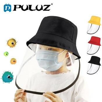 PULUZ-Casco De Seguridad para niños, Mascarillas antivirus, protección Plegable