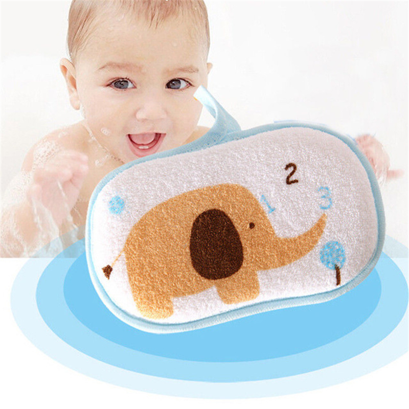 Cartoon Pattern Cute Baby Towel Infant Bath Brush Child Shower Sponge Body Care Soft Body Shower Spa Exfoliator Washing