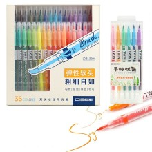 36 Color/set Drawing Painting Watercolor Brush Pen Dual Tip FineLiner Water Color Art Marker Pens Stationery School Art Supplies 1pcs colored art markers dual brush marker pen drawing pen manga marker design pens art painting pens school stationery 96 color