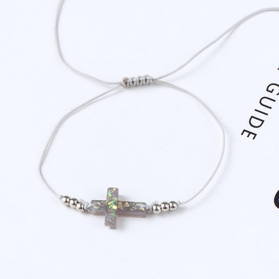 Boho Ankle Bracelet Bohemian Colorful Heart Beads Jesus Cross Turtle Butterfly Infinity Triangle Anklet Women's Leg Bracelet (28)