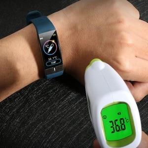Image 5 - Monitor della temperatura corporea ECG PPG braccialetto intelligente uomo frequenza cardiaca AI Record Smart Band braccialetti Fitness Tracker impermeabili