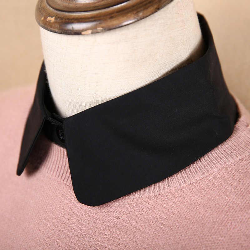 Phong Cách Hàn Quốc Phối Ren Giả Búp Bê Cổ Áo Nữ Áo Thời Trang Nữ Mùa Đông Vintage Cổ Vải Nữ Giả Nửa Áo Có Thể Tháo Rời