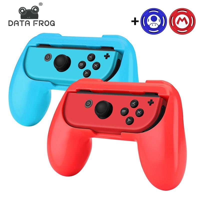 Data Frog Left+Right Joycon Bracket Holder Handle  For Nintend Switch NS Joy-Con Controller Gamepad HandGrip Stand