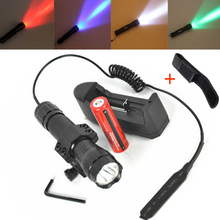 10W XM-L T6 XPE LED Tactical Flashligh,18650 Camping Pocket Lamp Torch,1 Mode Pressure Switch Mount Hunting Torch Light