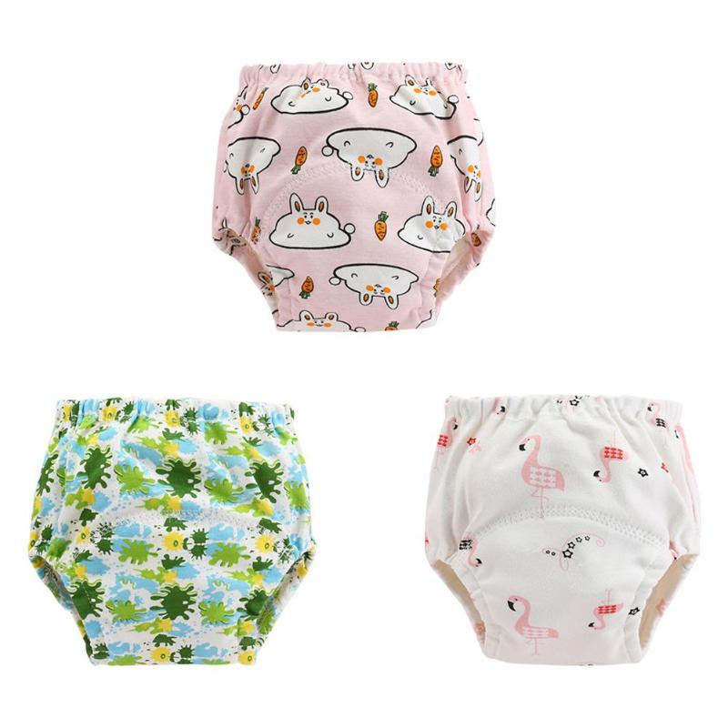 Baby Diapers Pure Cotton Washable Reusable Cloth Child Infants Repeatable Washing Light Breathable Nappy Underpants