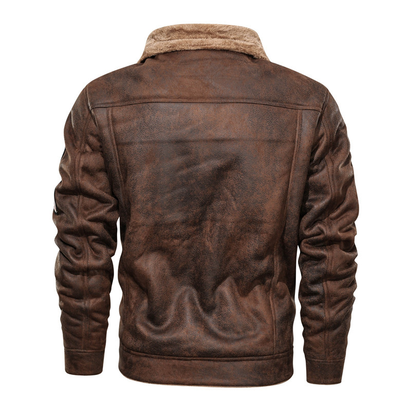 H9654333d7aec484d912cc8fddb8937e1y 2020 New Autumn And Winter Lapel Large Men's Jacket Casual Fashion Motorcycle Loose Leather jackets