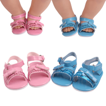 43 cm baby dolls shoes newborn Summer pink bow sequin shoes Baby toys blue dress shoe fit American 18 inch Girls doll g227 18 inch girls doll shoes winter woolen slippers casual shoe american newborn accessories baby toys fit 43 cm baby dolls s129