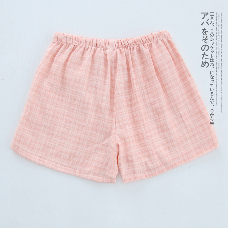 Летние женские Пижамные шорты, хлопковые газовые пижамы, штаны с принтом, штаны для сна, одежда для сна, женская одежда для сна - Цвет: Tricolor orange