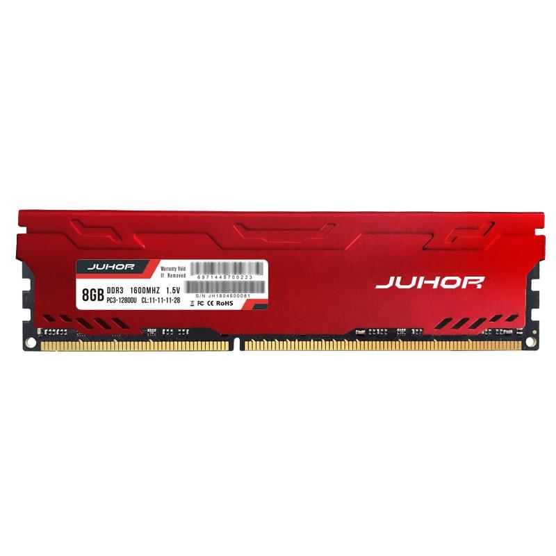 Ram ddr3 novo do dimm ddr3 da memória de 1600mhz 1333mhz 1866mhzdesktop ram da memória de juhor memoria 8gb com dissipador de calor