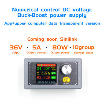 XYS3580 DC DC Buck Boost Converter CC CV 0.6-36V 5A Power Module Adjustable Regulated laboratory power supply variable