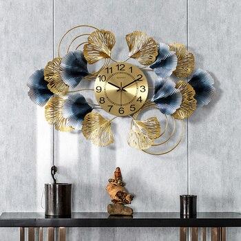 Reloj De Pared De Metal nórdico, gran arte De sala De estar,...