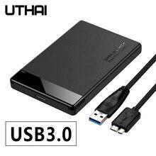 Uthai g28 5gbps usb 3.0 caixa de disco rígido móvel 2.5-Polegada sata suporta discos rígidos variosmecânicos e unidades de estado sólido (ssd)