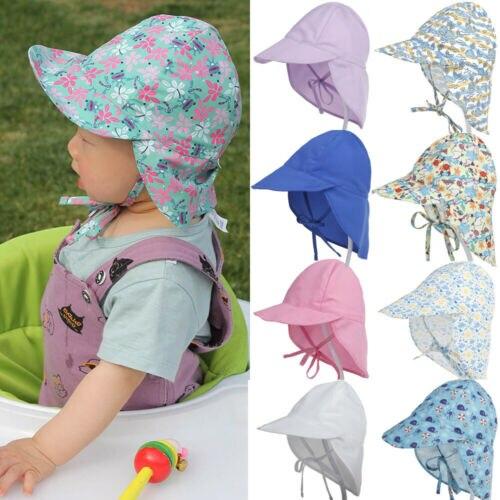 Sombrero de playa con Cierre trasero para bebé, niño y niña, gorra de verano