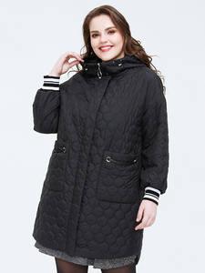 Женская куртка Astrid, весенняя, большого размера, средней длины, с капюшоном, AM-3511