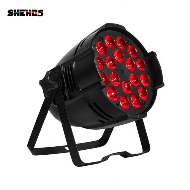 Alüminyum alaşımlı LED Par 18x18W RGBWA + UV 6in1 sahne aydınlatma LED spot DJ projektör yıkama aydınlatma düğün gösterisi parti ışıkları