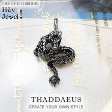 Colgante de dragón, 2019 invierno nuevo 925 Plata de Ley joyería de moda accesorios de bisutería étnicos de Europa regalo para mujer y hombre
