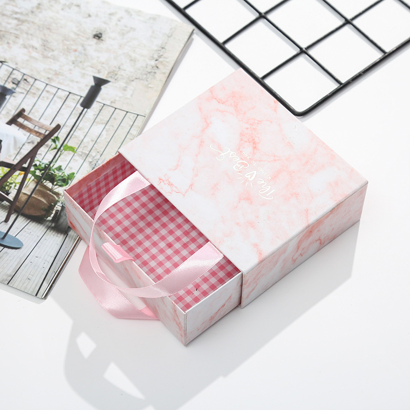 10pcs set Holiday gift box marbling with hand gift box hand drawer gift box custom gift box in Gift Bags Wrapping Supplies from Home Garden