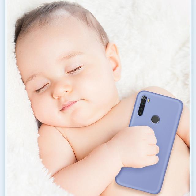 For Xiaomi Redmi Note 8 Pro 8T Case Liquid Silicone Shockproof Bumper Soft Phone Case on Redmi Note 8 T 9S 9 Pro Poco X3 Cover 5