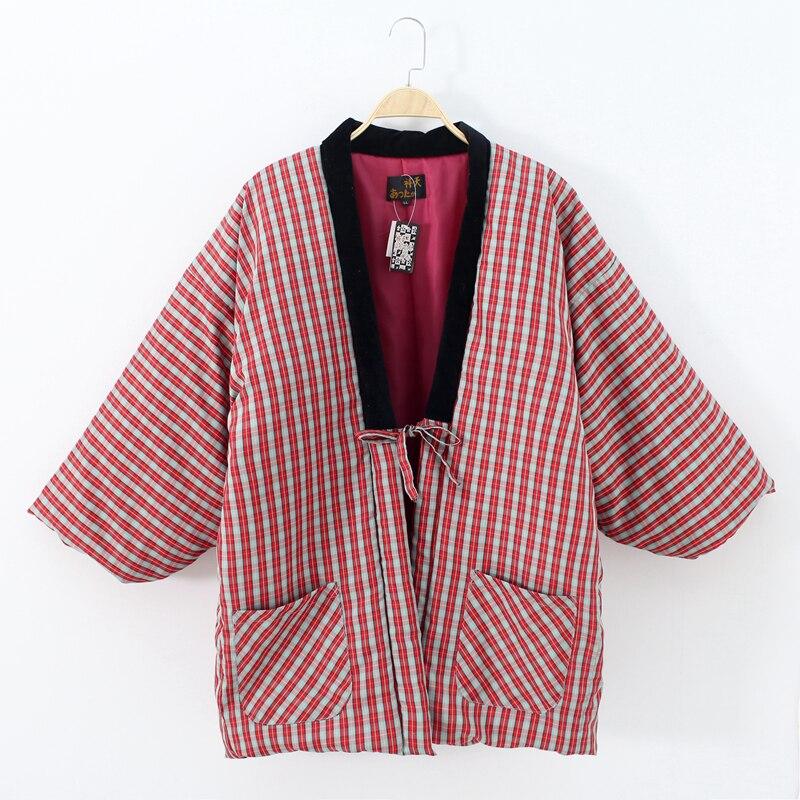 Haori Traditional Winter Kimono Japanese Mujer Japan Yukata Kimonos Dress Women Men Top Mujer Folk Style Winter Clothes Pajama