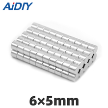 AI DIY 10/30/50 pcs 6 x 5mm Strong round Disc neodymium magnet Mini Small Round Rare Earth Magnetic magnets 6*5mm