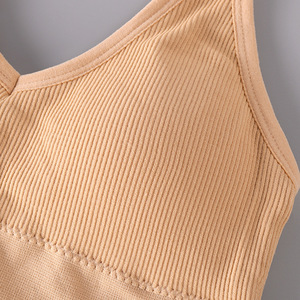 Image 5 - 2020 New Sports Bra Without Steel Ring Fashion Sports Gathering Sexy Beautiful Back Wrapped Chest Ladies Underwear Thin Cotton C