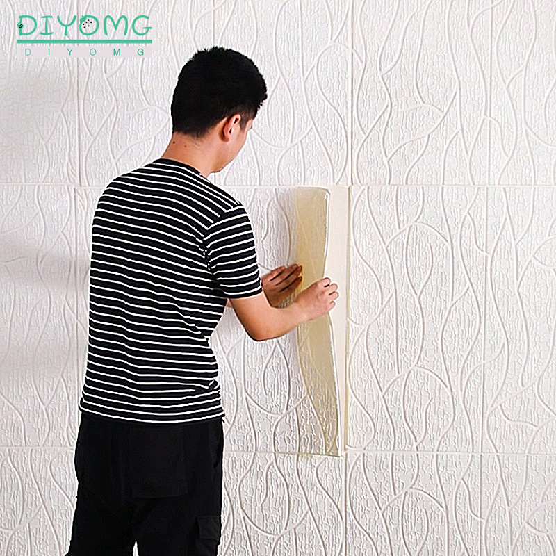 3D Wallpaper Stripe Roof Ceiling Decoration Wallpaper Bedroom PVC Self-Adhesive Wall Stickers Contact Paper Wallcovering Panel