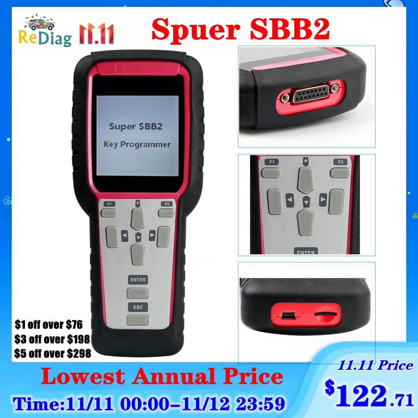 Super SBB2 Oil/service Reset/TPMS/EPS/BMS Handheld Scanner Car Diagnostic Tool Powerful Than CK100&old SBB