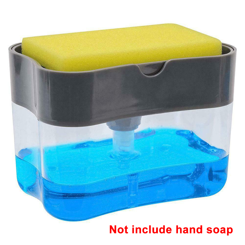 Kitchen Portable Dispenser Hotel Holder Cleaning Home Sponge  Hand Push Water Resistant Bathroom Soap Pump Toilet ABS