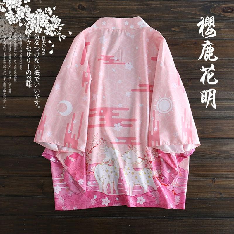 Yukata Kimono Mujer Cardigan Women Japanese Kimono Femme T Traditional Blouses 2019 Beach Kimono Femme Long Cosplay Anime Belt