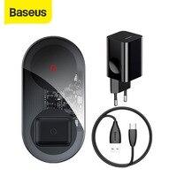 Baseus 24W Qi caricabatterie Wireless per Airpods per iPhone 11 con cavo USB 12V CN/EU/UK caricabatterie caricabatterie rapido per telefono