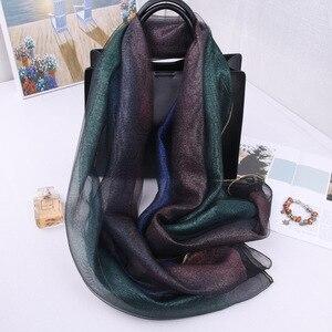 Image 3 - Новое поступление, женские шарфы, 2019 Шелковый шерстяной шарф для женщин, шаль из пашмины, накидка, шали и палантины, хиджаб, платок, бандана, пончо