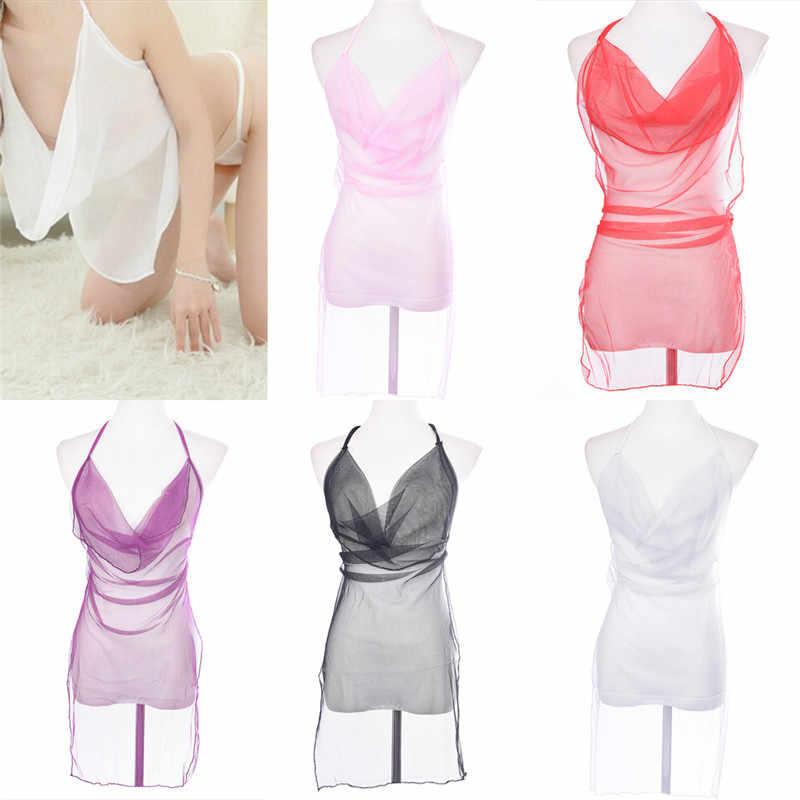 Mulheres Sexy Senhoras Lingerie Fantasias Eróticas Roupas Para O Sexo Multi-Cor Transparente Sexy Pijama Cueca