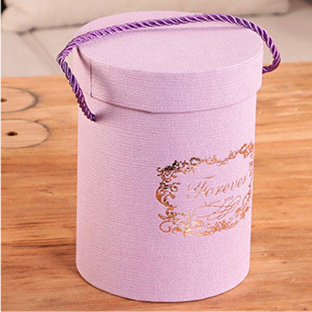 165*120 мм новые круглые бумажные коробки для цветов с крышкой, ведерко для цветов, подарочная упаковочная коробка, подарочные коробки для конфет, вечерние, Свадебные Поставки - Цвет: A(purple)