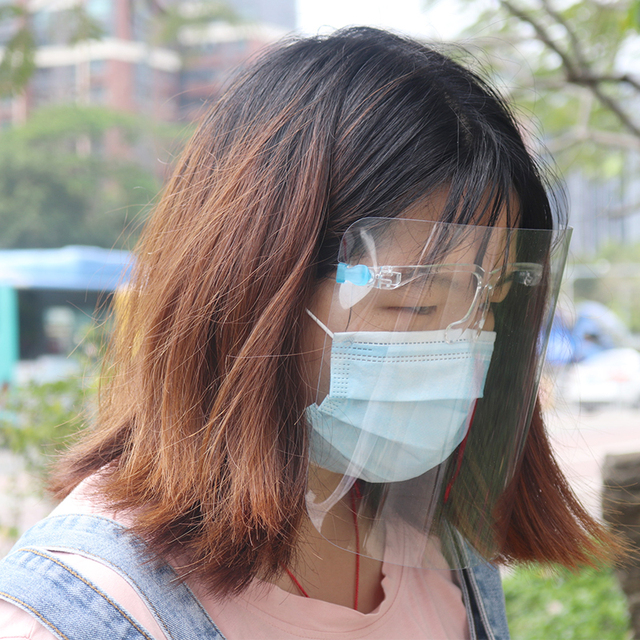 Anti-Saliva Dustproof Mask Transparent  Safety Faces Shields Screen Spare Visors Head Face Respiratory tract Protection 4