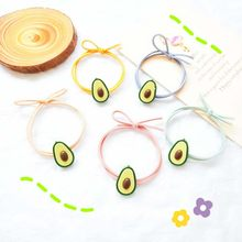 Random 1/5PCS High Elasticity Nylon Elastic Hair Bands Avocado Fruit Ponytail Women Hair Band Baby Girl Headbands Accessories(China)
