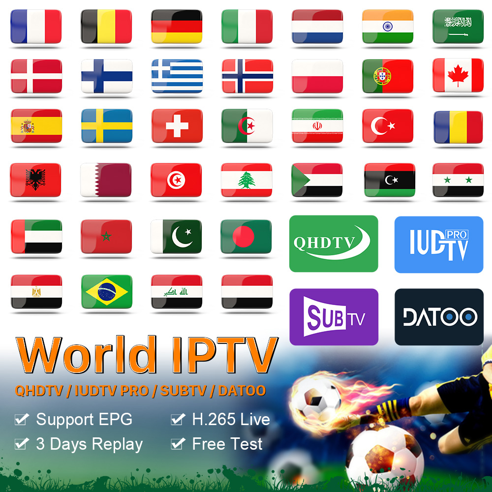 IPTV Spain Portugal France IP TV Subscription QHDTV SUBTV IUDTV Pro Datoo Code IPTV France Arabic Spain Turkey Netherlands IP TV