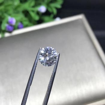 5mm 0 5ct GH kolor luźny moissanit okrągły Brilliant Cut Moissanite Test pozytywne laboratorium uprawiane diamentowe pojedyncze kamienie kamienie tanie i dobre opinie AWSM WHITE VVS1 Excellent none 0 5 carat CN (pochodzenie) Grzywny