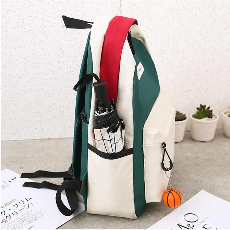 Mochila pubgs feminina de lona, conjunto de 4 peças de bolsas escolares, funcional casual, estilo preppy grande 2019 capacidade
