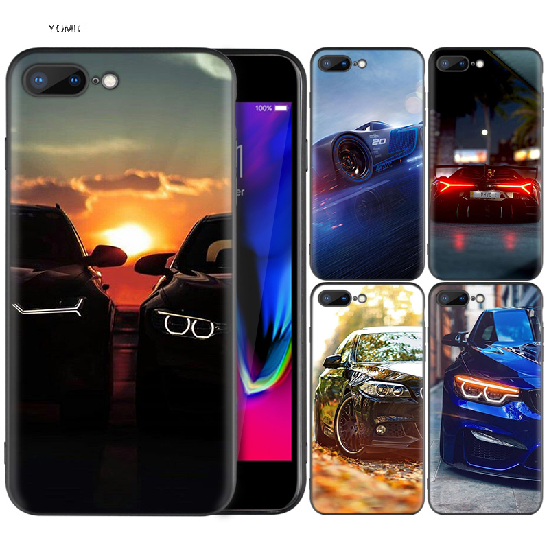 Black Silicone <font><b>Case</b></font> Cover <font><b>for</b></font> <font><b>iPhone</b></font> XR 7 <font><b>8</b></font> X XS MAX 6S 6 Plus 5 5S SE 7Plus Phone Shell Bags Coque Falls <font><b>For</b></font> <font><b>BMW</b></font> Wallpaper image
