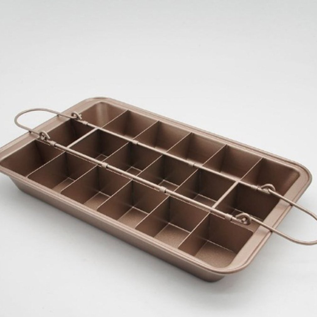 Professional Non-Stick Brownie Pan with Divider Carbon Steel Baking Pan Bread Cake Oven Baking Mold Bakeware Tray