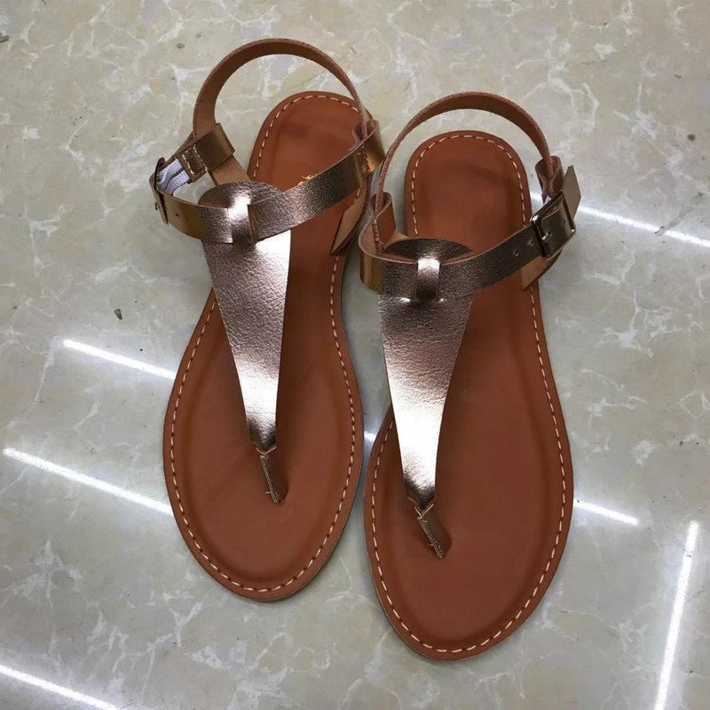Large Size Women Roman Shoes Simple Design Flat with Clip Toe Feet Female Sandals Candy Colors Breathable Sandalias Mujer