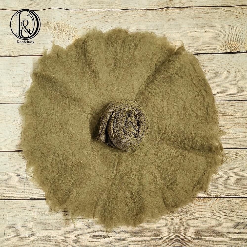 Don&Judy 2pcs/set 100% Wool Felt Fleece Blanket+ Wrap Super Soft Basket Filler Stuffer Newborn Baby Photography Props