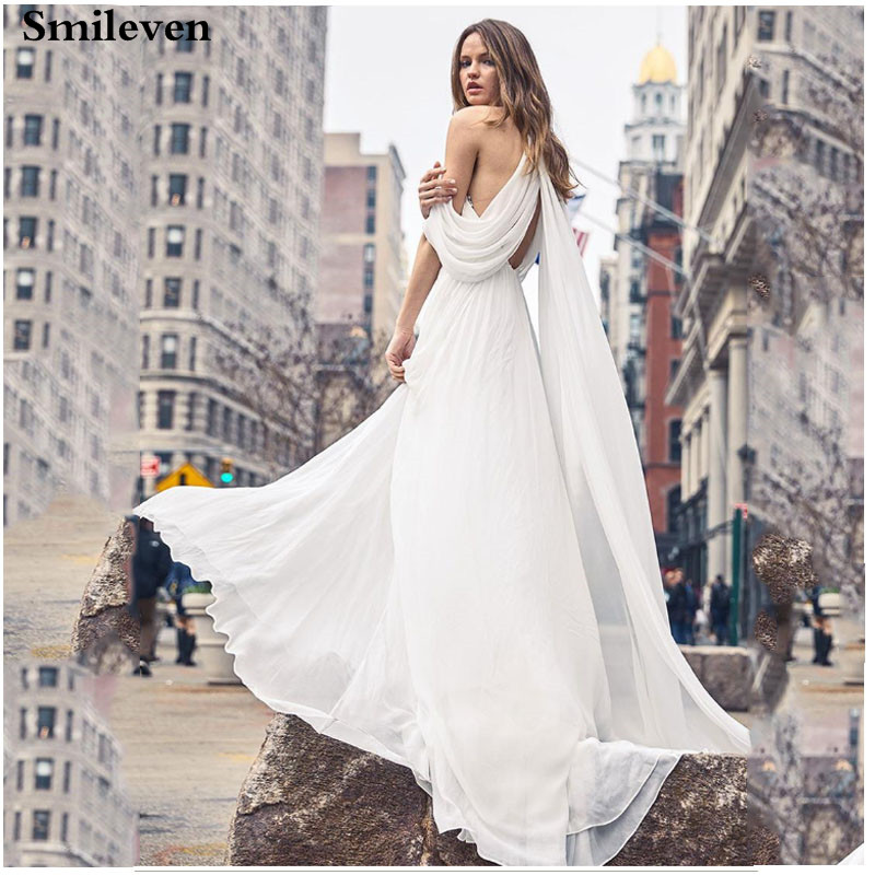 Smileven  Lace Mermaid Wedding Dress Appliqued Bridal Dresses Boho Floor Length Vestido De Noiva Lorie  Wedding Gowns