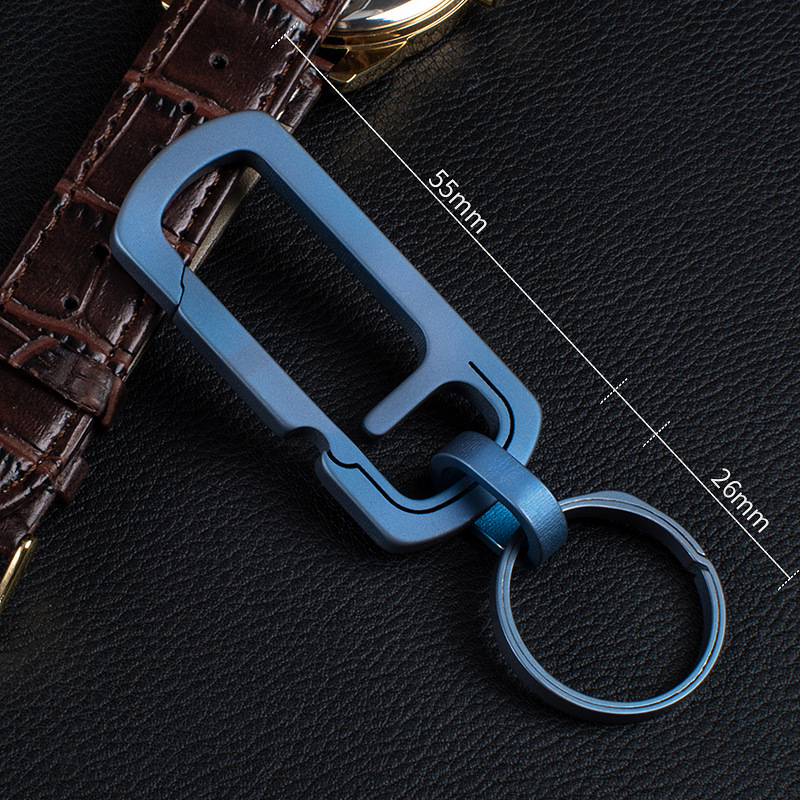 No. 11 Simple Pressing Titanium Alloy with Bottle Opener and Key Ring Metal Multifunctional Key Link