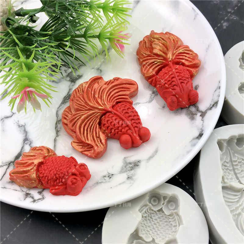 Bricolage belle coquille étoile de mer conque Silicone chocolat moule poisson sirène queue Fondant gâteau décoration outils argile résine Art moules