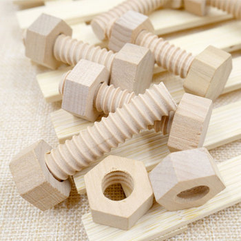 Educational Wooden Screw Nut Block Assembling Matching Game Toy Natural Wood Hands-On Teaching Aid Development Toys for Children jan pronk p catalysing development a debate on aid