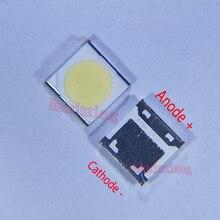 100 개/몫 Wooree SMD LED 3535 6V 2W LCD/TV 백라이트 응용 프로그램에 대 한 차가운 흰색 WM35E2F YR09B eA