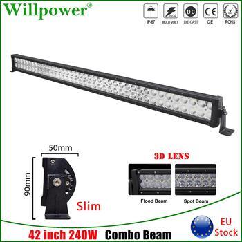 цены Auto Slim 42 inch 240W LED Work Light Bar For Jeep 4x4 SUV Off Road Truck UTV ATV 4WD Pickup Combo Beam LED Bar Driving Lamp