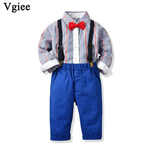 Vgiee Kids Clothing Fall Full Boy Set for Birthday Wedding Party Outfits Boys Baby Clothes Coat CC732